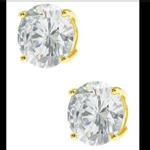 CZ By Kenneth Jay Lane Round Cut CZ Stud Earrings